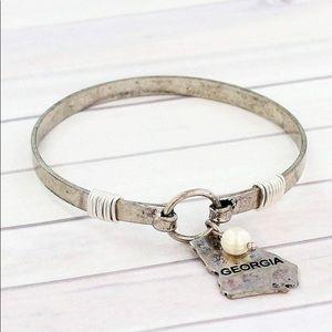 Jewelry - Burnished Silvertone Georgia Bracelet